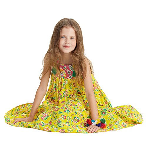 Masala Kids Toddler Girls' Ayu Dress, Yellow, 3T