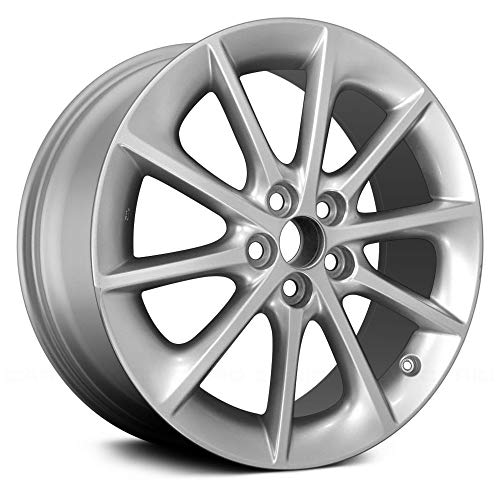 (Replacement X 7, 10 Spoke Lexus Alloy Wheel All Painted Silver Fits Lexus CT)