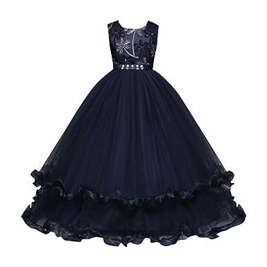Hot Sale !Vestito Ragazza Bambino elegante fiore 2aca16e4d5a