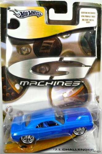 Hot Wheels G Machines 71 Dodge Challenger Blue Flames Hot Wheels G Machines