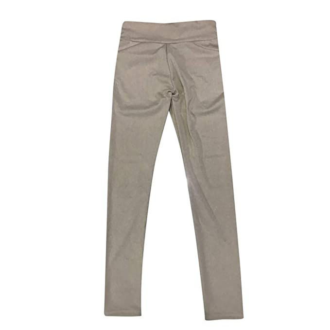Pantalón Ajustado de Talle Alto con Cintura Alta y Bolsillo ...