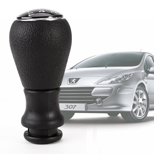 New Car Gear Shift Chrome Knob stick For PEUGEOT 106 206 306 406 107 207 307 407 807 5 SPEED Chrome Black