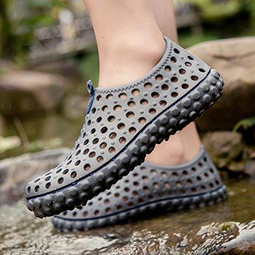 Buco scarpa Uomini Il nuovo Spiaggia sandali Uomini scarpa estate alunno Uomini Antiscivolo sandali ,grigio,US=8.5,UK=8,EU=42,CN=43