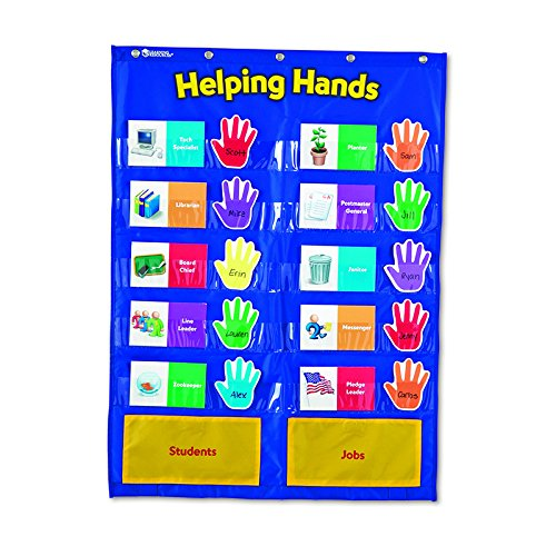 LEARNING RESOURCES POCKET CHART HELPING HANDS (Set of 6)