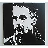 FRATTA - ROBERTO BAGGIO (ROBY BAGGIO) - QUADRO MODERNO DIPINTO A MANO - POP ART EFFECT (formato 40 x 40 cm)