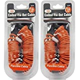 IIT 99918 Coiled Tie Out Cable - 16 Feet - 2 Pack