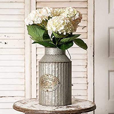 Vintage Industrial Farmhouse Chic Flowers and Plants Can with Handle (Does Not Come With Flowers) - Decorative Can with Handle Does Not Come With the Flowers - living-room-decor, living-room, home-decor - 5199mhbzsPL. SS400  -