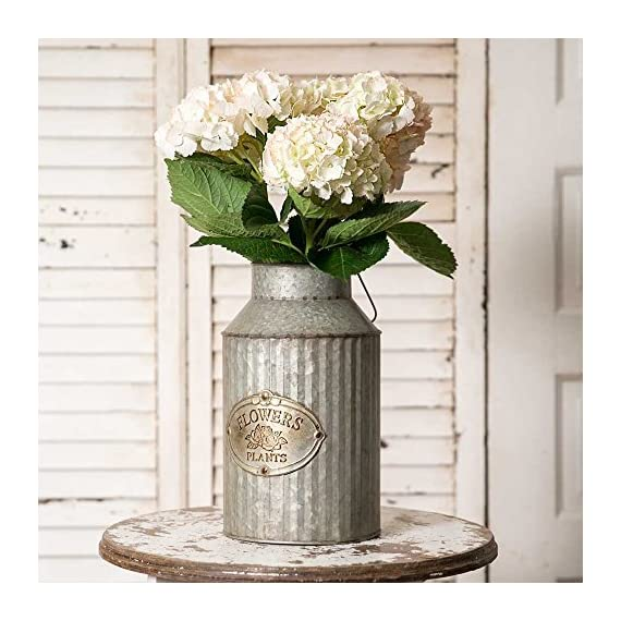 Vintage Industrial Farmhouse Chic Flowers and Plants Can with Handle (Does Not Come with Flowers) - Decorative Can with Handle Does Not Come With the Flowers - living-room-decor, living-room, home-decor - 5199mhbzsPL. SS570  -