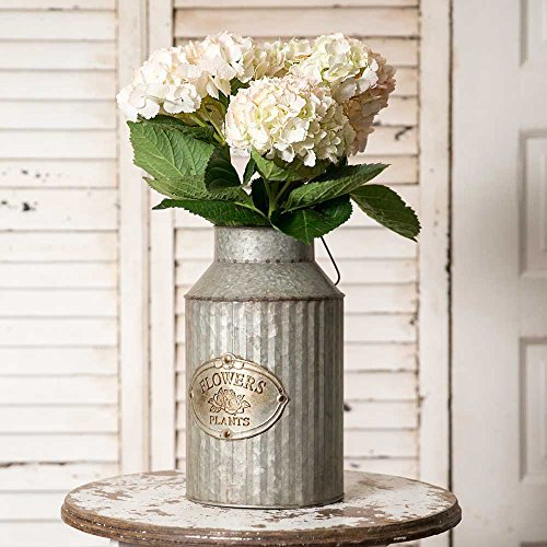 Decorative House Plants - Vintage Industrial Farmhouse Chic Flowers and Plants Can with Handle (Does Not Come With Flowers)