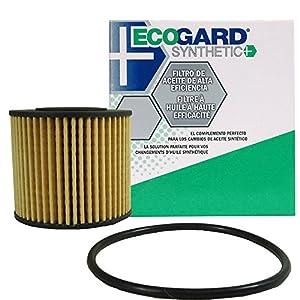 ECOGARD S6311 Cartridge Engine Oil Filter for Synthetic Oil - Premium Replacement Fits Toyota Corolla, Prius, Prius V, Matrix, Prius Plug-In, Corolla iM, Prius Prime/Scion xD, iM/Lexus CT200h