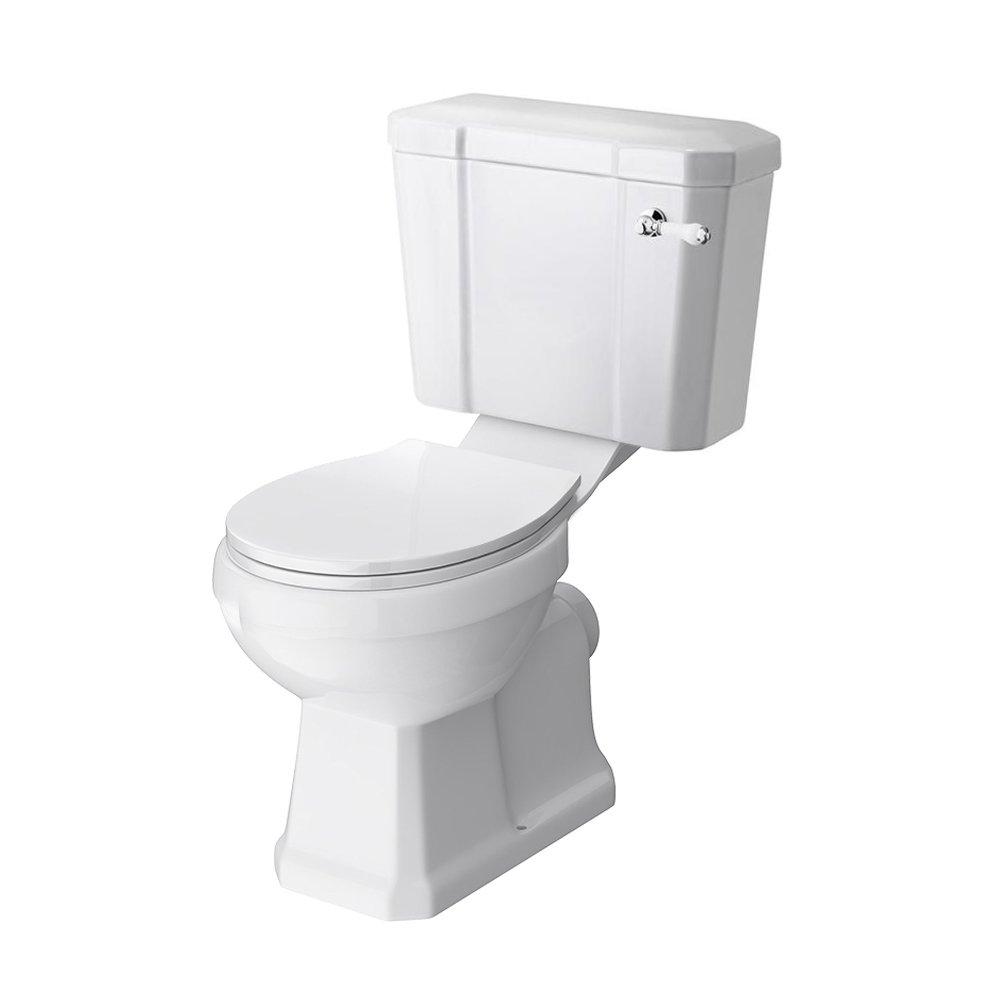 Rockingham Close Coupled Home Standard® Fitzwilliam Traditional Bathroom 1 Tap Hole Sink Wash Basin & Full Floorstanding Pedestal