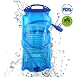 Hydration Bladder, 3L Water Bladder BPA Free, 3 liter Large Opening Water Reservoir, Leak Proof Military Insulated Water Storage Bladder Bag for Cycling Hiking Camping Biking Running Climbing Walking