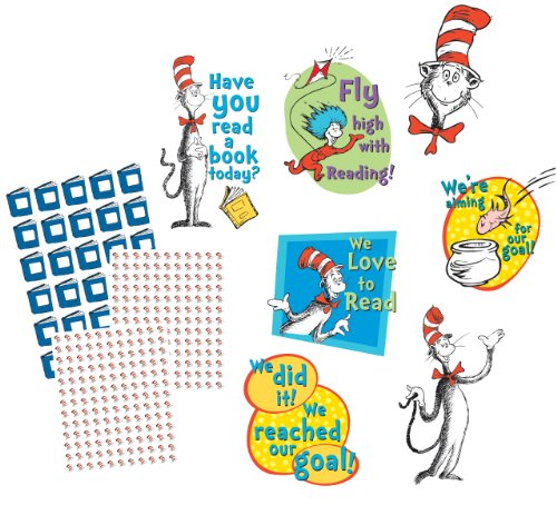 5.5 W x 5.5 H Seuss The Cat in the Hat Paper Cut Outs for Schools and Classrooms Eureka Dr 36pc