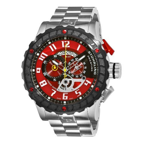 Stuhrling Prestige Men's 329.33114 Prestige Swiss Made Limited Edition  Pro Quartz Chronograph Red Watch