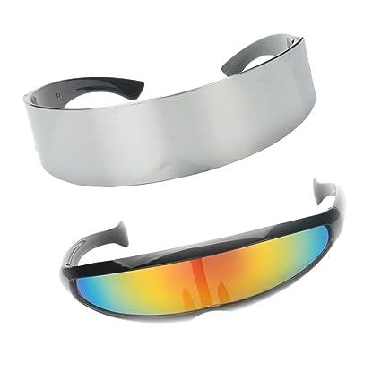 IPOTCH Paquete De 2 Gafas De Sol Futuristas Cyclops Shield ...