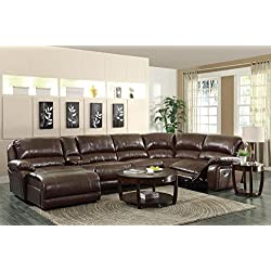 Coaster Home Furnishings 600357B3 Casual Sectional Sofa, Brown