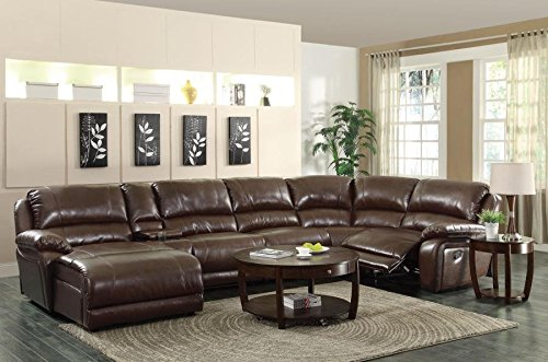 Review Coaster Home Furnishings 600357B3 Casual Sectional Sofa, Brown