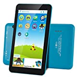 AOSON M753-S3 7 Inch kids Tablet PC, Android 6.0 Marshmallow Quad-core, IPS HD Touch Screen, 1GB RAM 16GB Storage, Kids APPS Iwawa Kidoz Dual Camera Bluetooth Wi-Fi Supported, Blue rear