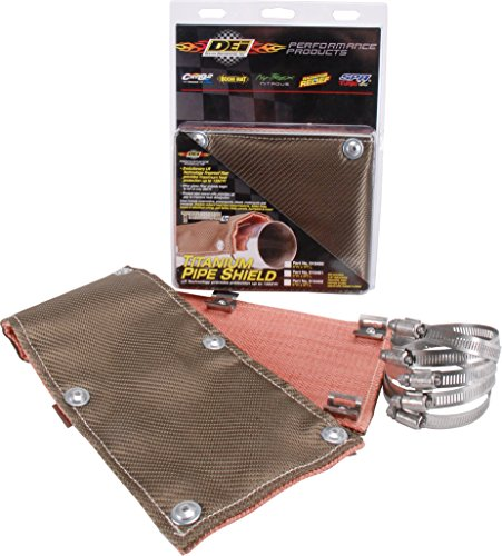DEI 010451 Titanium Pipe Shield - Exhaust Heat Shield, 6