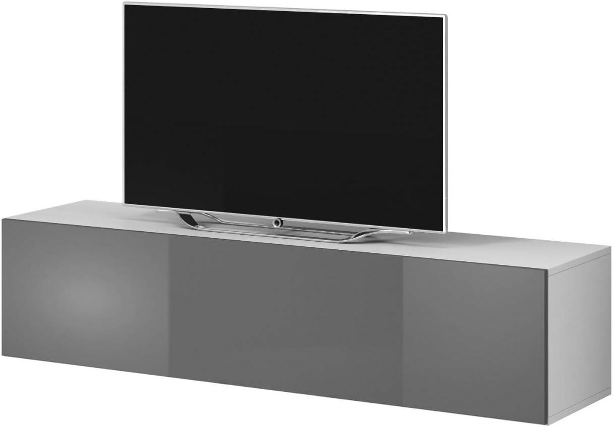 e-Com Rocco - Mueble para televisor (100 cm), Color Blanco y Gris ...