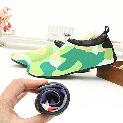 Eastlion correr de Zapatos natación Snorkel playa antideslizantes Zapatos Unisex Zapatos para suaves Transpirable descalzos calcetines de como verdes Zapatos rn8wSxqBtr