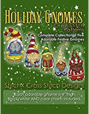 Holiday Gnomes Cross Stitch Patterns: Complete Collection of Five Adorable Festive Gnomes
