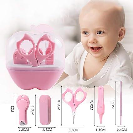beb/é o ni/ño peque/ño,Pink CSFM-Baby Set Aseo manicura para beb/és 4 Piezas reci/én Nacido Kit Cuidado para Cualquier ni/ño