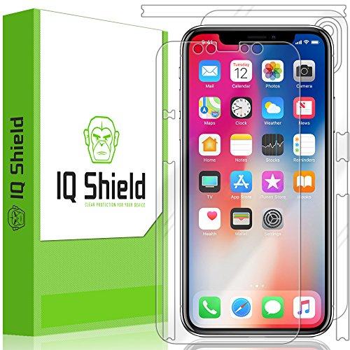 ector, IQ Shield LiQuidSkin Full Body Skin + Full Coverage Screen Protector for iPhone X HD Clear Anti-Bubble Film (Full Body Shield Protector)