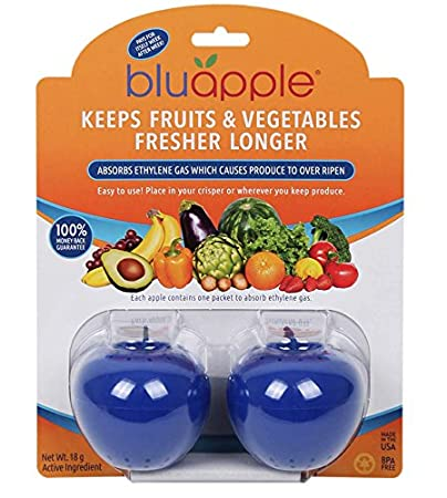 Bluapple Blue Produce Freshness Balls to Keep Fruits and Vegetables Fresher  Longer One for Each