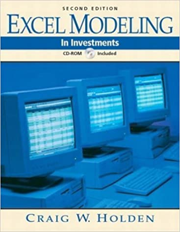 Book Excel Modeling in Investments (2nd Edition) by Craig W. Holden (2004-08-26)