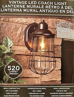 Manor House Vintage LED Coach Patio Porch Light     Amazon com. Manor House Outdoor Lighting. Home Design Ideas