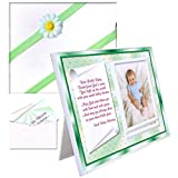 Irish Baby Blessing Gift Picture Frame | For Baby Girl or Boy | Affordable, Colorful | Holds a 3.5 x 5 Photo | Innovative Front-Load Design | Irish Theme