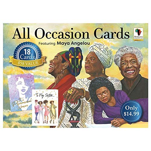 African American Expressions - All Occasion Boxed Cards Assortment #13 feat. Maya Angelou (18 cards, 5