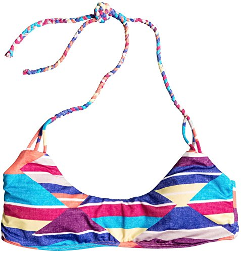 Roxy Junior's Dry Wind Halter Tri Bikini Top, Desert Point Geo Combo Electric, Small