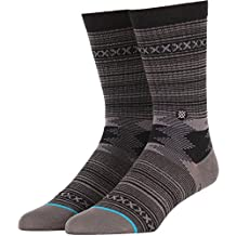 Stance mens Guadalupe Tribal Stripe Pattern Arch Support Classic Crew Sock