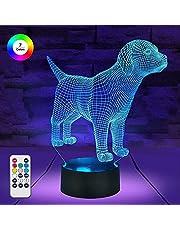 7 kolorów / 3 tryby pracy / funkcja timera zdalne i dotykowe sterowanie pies / szczeniak lampki nocne przyciemniane LED wielokolorowa lampa dla dzieci i dzieci do pokoju dziecięcego