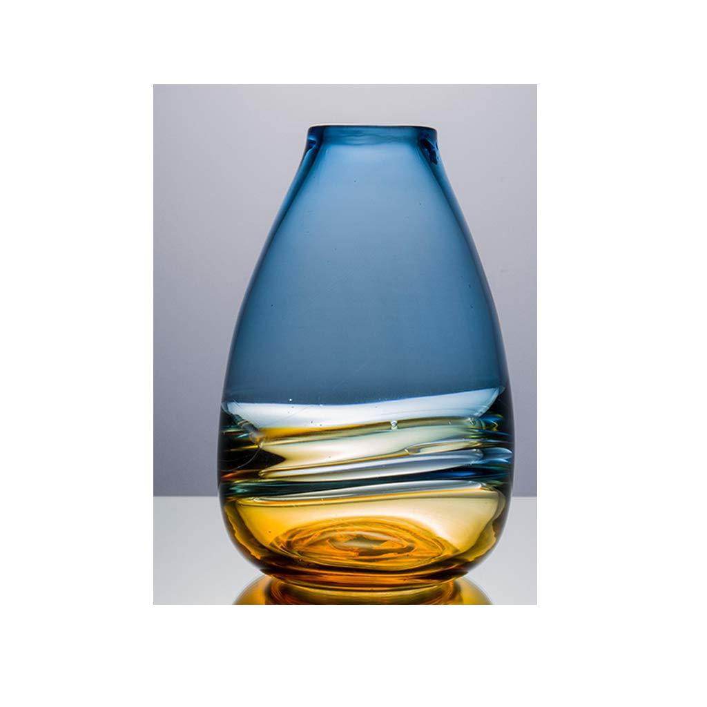 ガラス花瓶の居間の花の装飾/水耕植物の花瓶/カウンタートップの花瓶 QYSZYG (サイズ さいず : 28cm×18cm) B07RBK5YFP  28cm×18cm