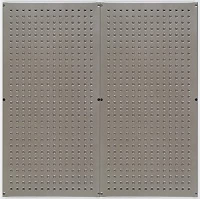 Galvanized Steel Metal Pegboard for Storage and Display, Gunmetal (2 panels Per Box)