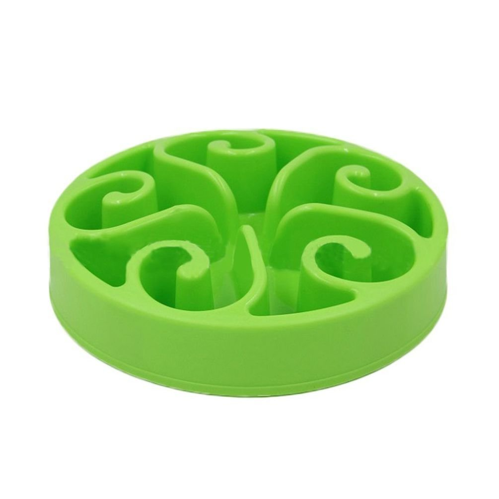 Pet Slow Feeder Dog Interactive Puzzle Non-Skid Bowl-Green