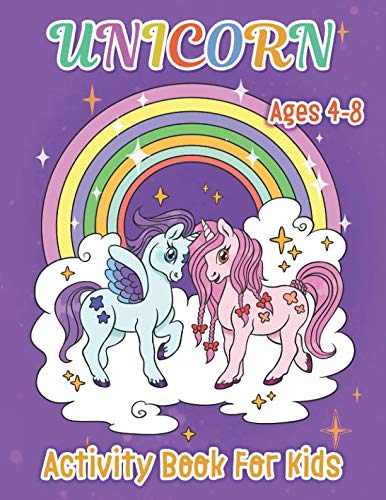Unicorn Activity Book for Kids: Hidden Pictures, Word Search, Find the Differences, Picture Sudoku, Color by Number, Mazes, and Much More for Kids Ages 4-8