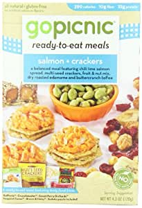 GoPicnic Ready-to-Eat Meals Salmon & Crackers (Pack of 6)