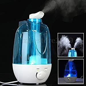Office Ultrasonic Humidifier Ioniser Air Diffuser Mist Purifier Atomizer 4L New