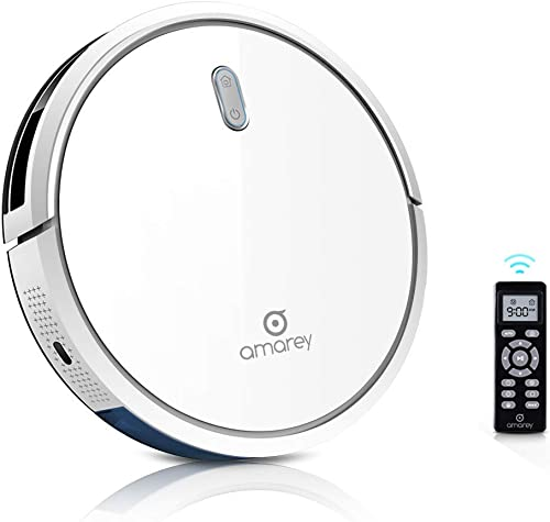 Robot Vacuum Cleaner – 1400Pa Ultra-Strong White Robot Vacuum, 4 Cleaning Modes, 2.7 Ultra-Thin, Self-Charge, 360 Anti Collision Anti Drop, Smart Robotic Vacuum for Pet Hair, Carpet, Hard Floor