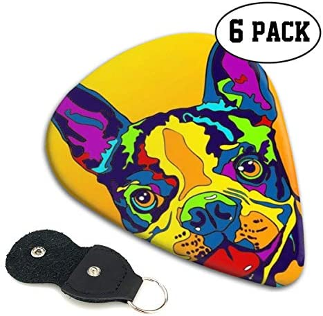 [해외]Xzyauza Multi-Color Boston Terrier Dog 6 Pack Celluloid Guitar Picks Mandolinand Bass 0.46mm 0.71mm 0.96mm Optional / Xzyauza Multi-Color Boston Terrier Dog 6 Pack Celluloid Guitar Picks Mandolin,and Bass 0.46mm, 0.71mm, 0.96mm Opt...