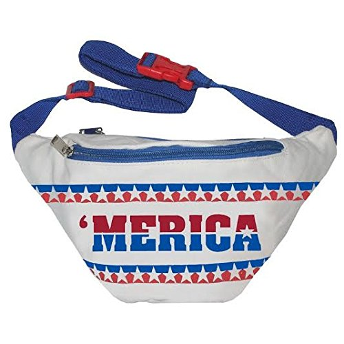 90s Costume Ideas For Guys (Funny Guy Mugs Merica Fanny Pack)