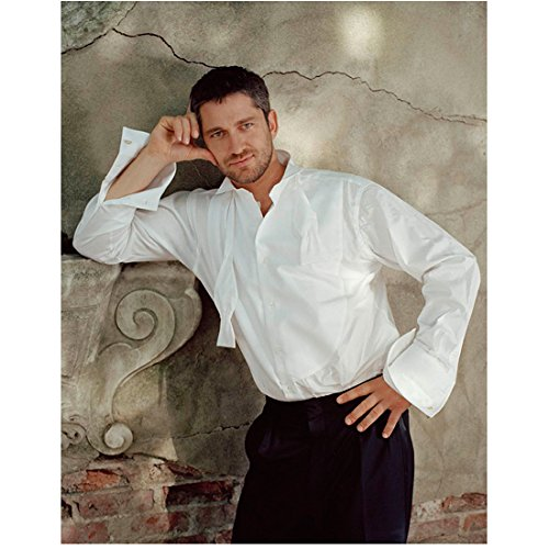 (Gerard Butler 8x10 Photo 300 How to Train Your Dragon P.S. I Love You White Dress Shirt Pose 3 kn)