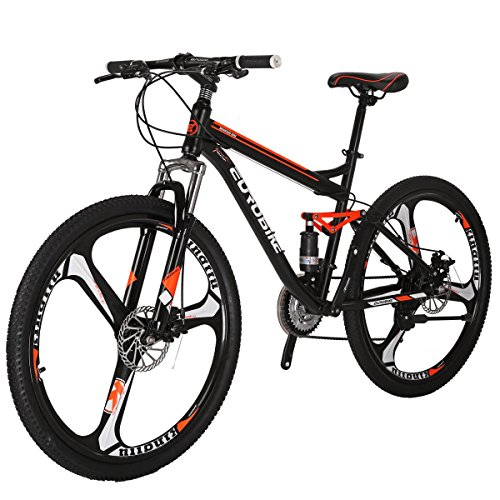 Cheapest Prices! EUROBIKE Moutain Bike S7 Bicycle 21 Speed MTB 27.5 Inches Wheels Dual Suspension Bi...