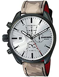 Men's 'Ms9 Chrono' Quartz Stainless Steel and Leather Casual watchMulti Color (Model: DZ4472)