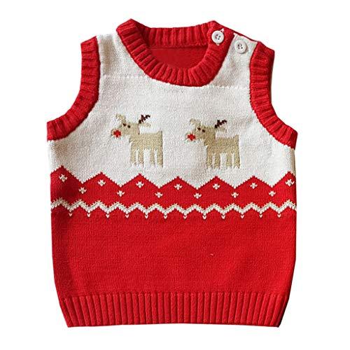 Toddler Kids Girl Boy Winter Christmas Deer Sweater