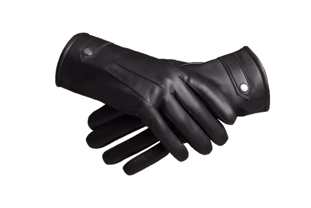 Baraca Men's Leather Gloves,Touchscreen Winter Leather Gloves (X-Large)